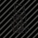 camera, love, retro, vintage, weding icon