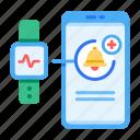health, notification, gadget, application, smart watch, workout, heart rate