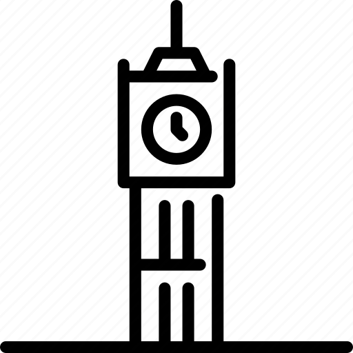 architecture, big ben, building, clocktower, london, monument, structure icon