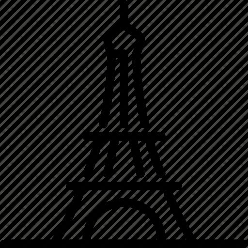 architecture, building, eiffel tower, france, monument, paris, tower icon