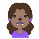 angry, emoji, female, halloween, horror, monster, werewolf icon