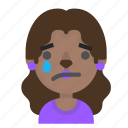 emoji, female, halloween, horror, monster, sad, werewolf icon