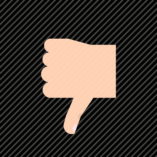 body language, dislike, gesture, hand, thumb, thumb down, thumbs down icon