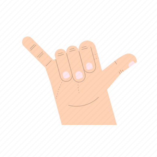 body language, fingers, gesture, hand, hang loose, pinkie, thumb icon