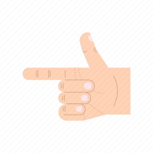 body language, fingers, forefinger, gesture, hand, pointing, thumb icon