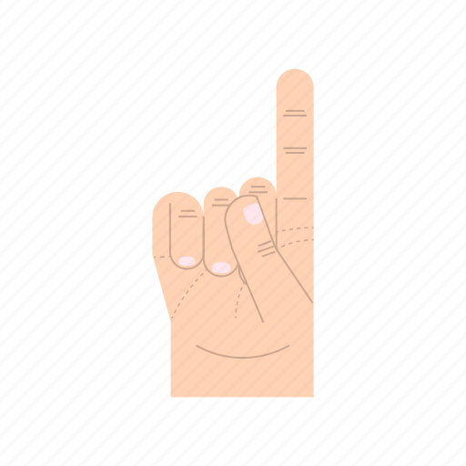 body language, fingers, forefinger, gesture, hand, index, pointing icon