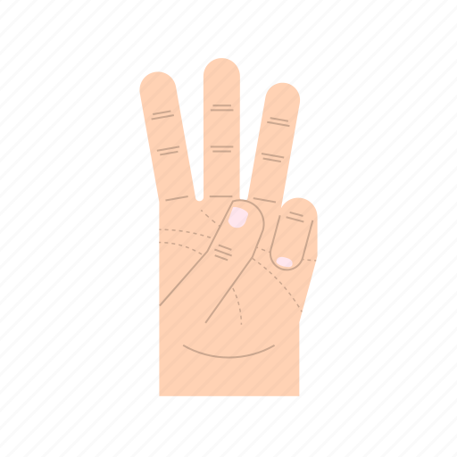body language, fingers, forefinger, gesture, hand, middle finger, ring finger icon