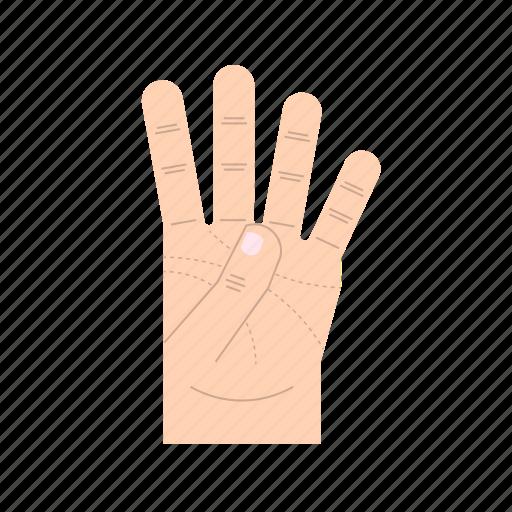 body language, fingers, forefinger, gesture, hand, middle finger, ring finger icon