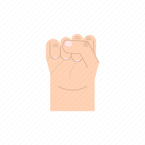 body language, fingers, fist, gesture, hand, resistance, strenght icon