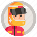 avatar, boy, man, racer, sport icon