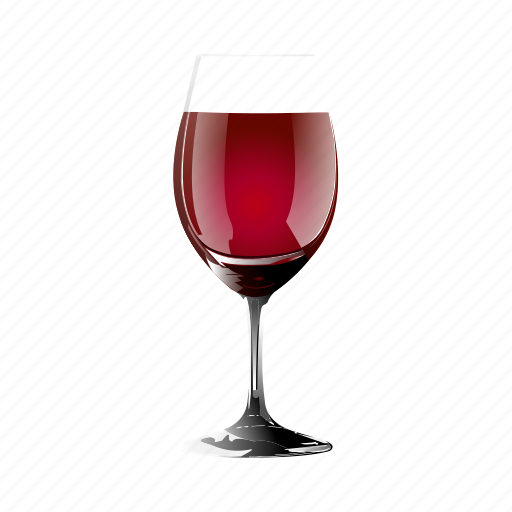 a, drunk, glass, of, red, wine icon