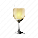 a, champagne, copy, glass, of, white, wine icon