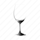 empty, glass, of, wine icon