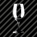 empty, glass, of, wine icon