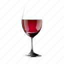 drink, glass, half, of, red, wine icon