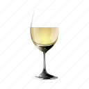 a, copy, glass, half, of, white, wine icon