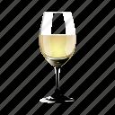copy, glass, half, of, white, wine icon