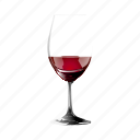 a, glass, in, of, red, remnant, wine icon