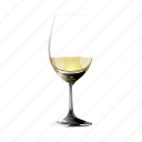 a, glass, in, of, remnant, white, wine icon