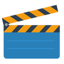 clapstick, movie board icon