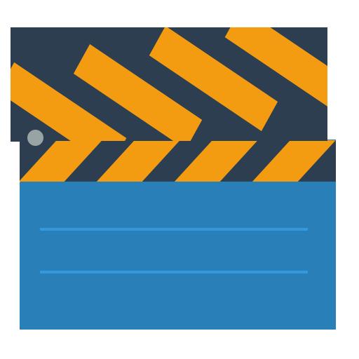 clapstick, movie board icon