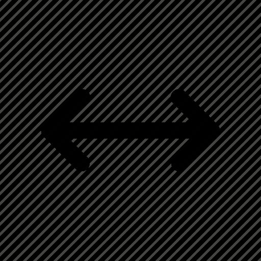 arrow, horizontal, resize icon