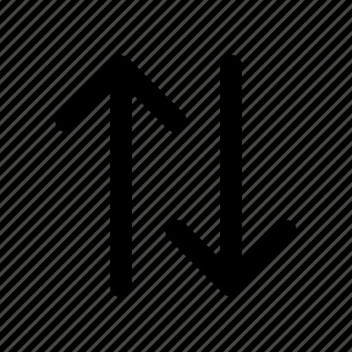 arrow, data, down, transfer, up icon