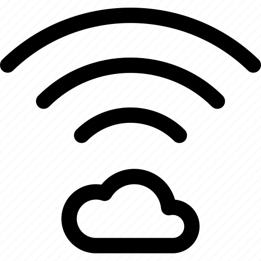 cloud, connection, data, internet, wave, wifi icon