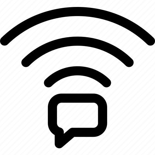comment, connection, text, wave, wifi icon
