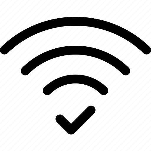 check, connection, done, wave, wifi icon