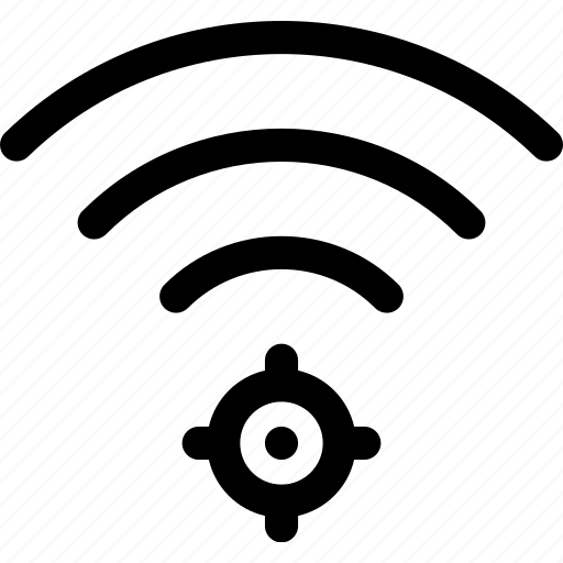 connection, location, map, wave, wifi icon