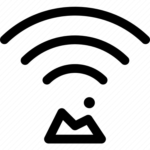 connection, landscape, outdoors, wave, wifi icon