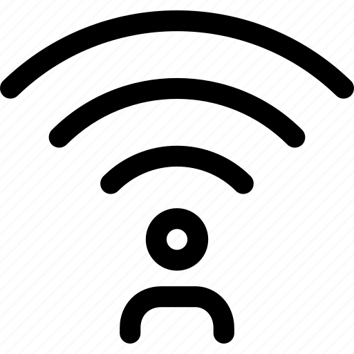 connection, human, person, wave, wifi icon