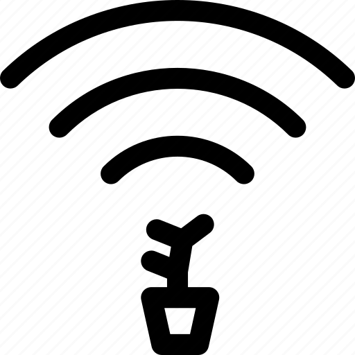 connection, grow, plant, wave, wifi icon