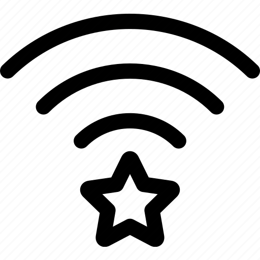connection, favorite, star, wave, wifi icon