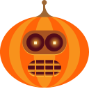 bender, halloween, jack-o-lantern, monster, pumpkin, robot, spooky icon