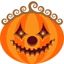 clown, halloween, jack-o-lantern, monster, pumpkin, scary, spooky icon