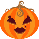 female, halloween, jack-o-lantern, lady, monster, pumpkin, spooky icon