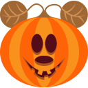 halloween, jack-o-lantern, monster, mouse, pumpkin, scary, spooky icon