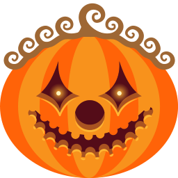 clown, halloween, jack-o-lantern, monster, pumpkin, scary, spooky icon