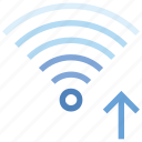 arrow, connection, hotspot, signal, up, wifi, wireless icon