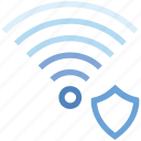 connection, hotspot, protection, shield, signal, wifi, wireless icon