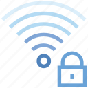 connection, hotspot, lock, secure, signal, wifi, wireless icon