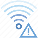 connection, hotspot, problem, signal, warning, wifi, wireless icon