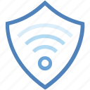 data, internet security, protection, secure, shield, signal, wifi icon