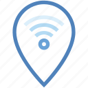 internet, location, map pin, navigation, place holder, wifi, wireless icon