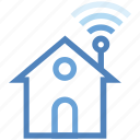 connected, home, house, internet, network, wifi, wireless icon