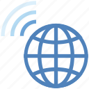 connection, earth, globe, internet, network, planet, wifi icon
