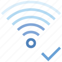 access, check, connection, hotspot, signal, wifi, wireless icon