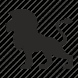 animal, cat, hunting, lion, wild icon